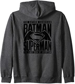 Batman v Superman Title Fight Zip Hoodie