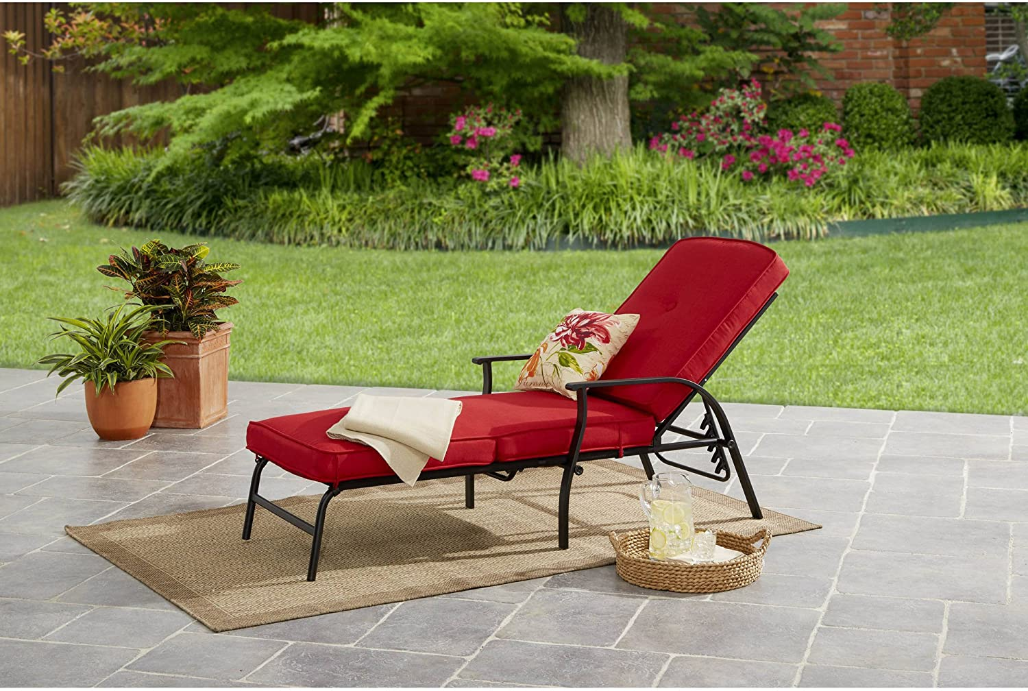 Chaise Lounge Mainstays Belden Park for Cushions Pa Outdoor Quantity New Shipping Free Shipping limited with