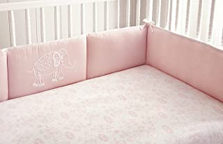 Levtex Home Baby Ely 4 Piece Crib Bumper Set, Pink