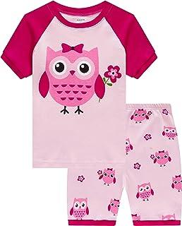 لباس خواب لباس خواب دخترانه آستین کوتاه کودکان و نوجوانان آستین کوتاه لباس خواب کودک تابستان 100٪ پنبه Pj
