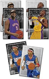 Oakley Graphics 3 Posters NBA Early 2k - Allen Iverson, Vince Carter, Kobe Bryant Art Prints - Buy 1 Get 2 Free, 3 Total Prints (2-Sided) (Medium Set - 12