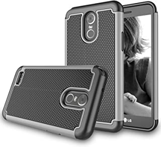 LG Stylus 3 Case, LG Stylo 3 Plus Case, Zectoo Shock Absorbing Drop Protection Hybrid Rubber Plastic Scratch Resistant Defender Bumper Rugged Slim Grip Hard Cover Cases for 2017 LG Stylo 3 - Gray