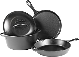 Lodge L4HS3KPLT Cast Iron 4-Piece Cookware Set