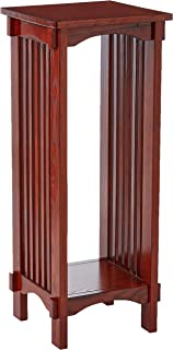 Square Plant Stand Warm Brown