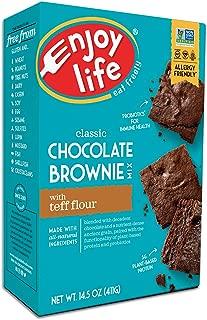 Enjoy Life Baking Mixes, Soy free, Nut free, Gluten free, Dairy free, Non GMO, Vegan, Brownie Mix, 14.5 Ounce Box