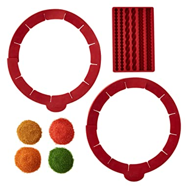 Wilton Silicone Pie Baking and Decorating Set, 6-Piece — Silicone Pie Mold, Pie Shield, Fall Colored Sugars