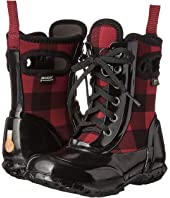 Bogs Kids - Sidney Lace Buffalo Plaid (Toddler/Little Kid/Big Kid)