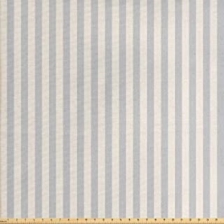 Lunarable Beige Fabric by The Yard, Vertically Striped Pattern with Grungy Worn Texture Nostalgic Background, Decorative F...
