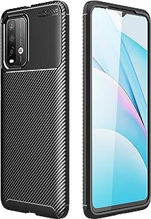 حافظة FanTing لجهاز Xiaomi Poco M3، مضادة للانزلاق رقيقة جدا امتصاص الصدمات ومضادة للخدش، غطاء لجهاز Xiaomi Poco M3 - أسود