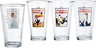 Luminarc Guinness 16-Ounce Assorted Pub Glasses Pack of 4
