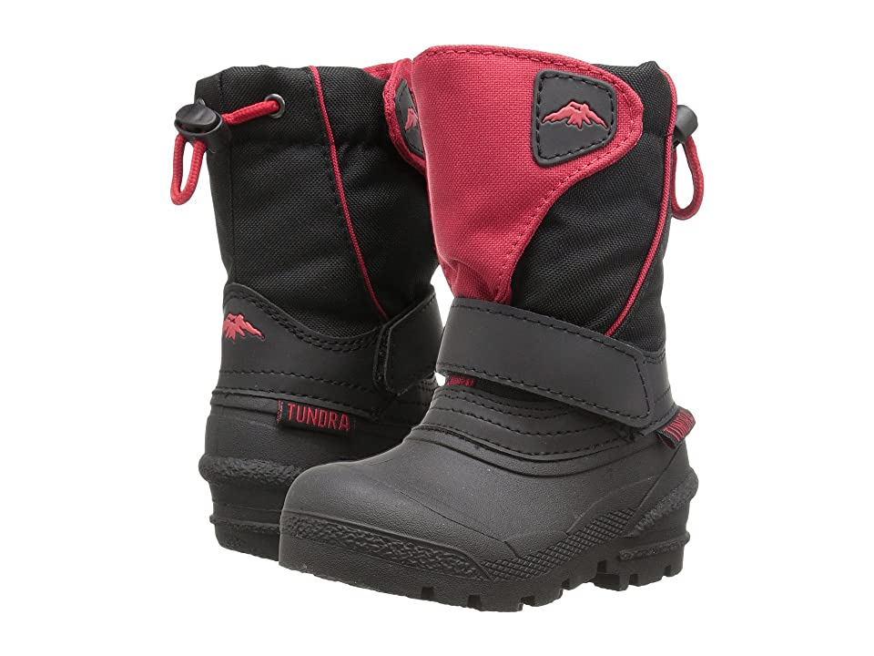 Tundra Boots Kids Quebec (Toddler/Little Kid/Big Kid) (Black/Red) Boys Shoes