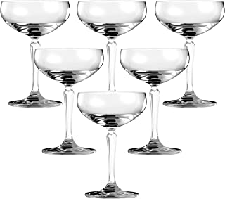 Ocean Connexion Coupe Cocktail Glass, Pack of 6, Clear, 215 ml, 527S07