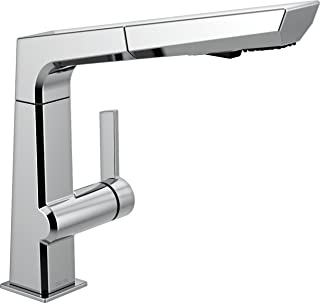Delta Faucet Pivotal Single-Handle Kitchen Sink Faucet with Pull Out Sprayer, Chrome 4193-DST