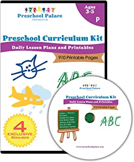 The Ultimate Preschool Curriculum Kit – Printable Workbooks, Lesson Plans and..