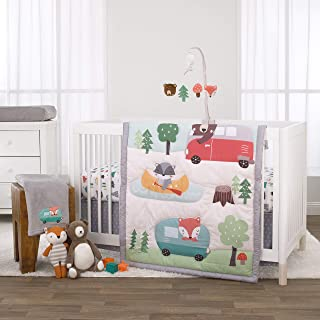 aqua and orange crib bedding