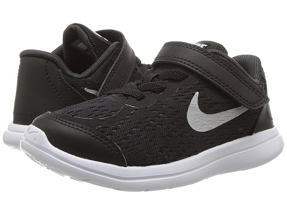Nike Kids Flex RN 2017 (Infant/Toddler) (Black/Metallic Silver/Anthracite/White) Boys Shoes