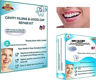 IVORIE Home Dental Restoration Cavity Filler Filling Loose Cap Crown Repair Kit DIY Cavity Filler Dental Tool and and Anterior Crowns