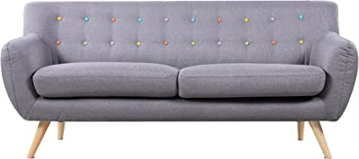 Amazon.com: Ebba 3-Seater Sofa - Light Grey: Kitchen & Dining