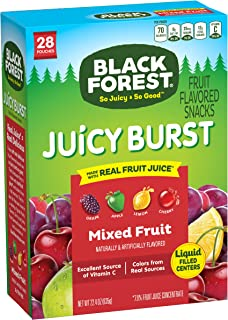 Black Forest Medley Juicy Center Fruit Snacks, Mixed Fruit Flavor, 0.9 Ounce (28 Count)