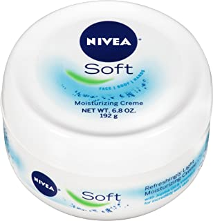 NIVEA Soft Moisturizing Crème - All-In-One Cream For Body, Face and Hands - 6.8 oz. Jar (Pack of 3)