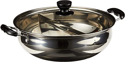 GMI Double sided Stainless Steel Steamboat Pan, 30 cm