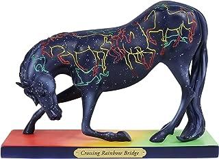 """Enesco Trail of Painted Ponies """"Crossing Rainbow Bridge, 5"""" Stone Resin Figurine, 5"""