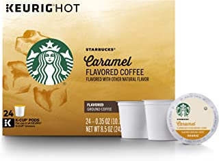 Starbucks Caramel Flavored Medium Roast Single Cup Coffee for Keurig Brewers, 4 Boxes of 24 (96 Total K-Cup Pods)
