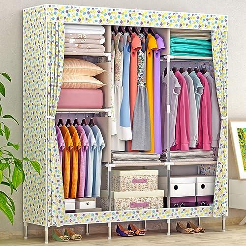 Exquisite wardrobe GreaWeißEinfache Moderne Wirtschaft-Schrank-faltenden einzelnen Zusammenbau-Schlafsaal, der Tuch-Schr e enth  Einfache InsGrößetion (Farbe    3)