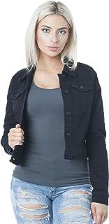 سترة جينز جينز حريمي من Hollywood Star Fashion بأزرار سفلية
