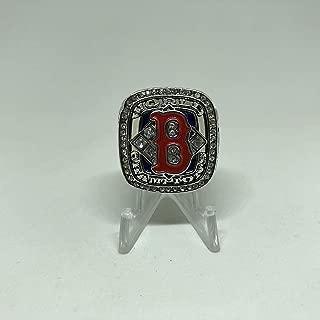 2004 David Ortiz #34 Boston Red Sox High Quality Replica 2004 World Series Ring Size 11-Silver Colored