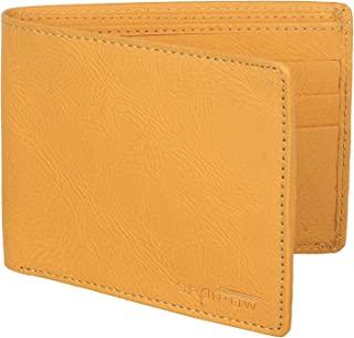 SPAIROW Men's Leather Wallet (TEX-0107) Yellow