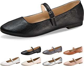 Flats Mary Jane Shoes Womens Casual Comfortable Walking Classic Buckle Ankle Strap Style Ballet Slip On