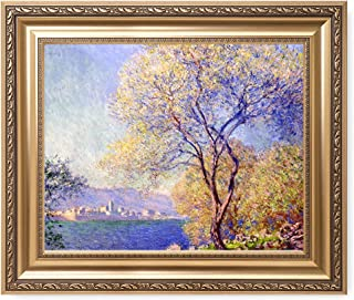 DECORARTS - Antibes Seen from The Salis Gardens, Claude Monet Art Reproduction. Giclee Print& Museum Quality Framed Art for Wall Decor. Framed Size: 26x22