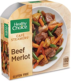 Healthy Choice Cafe Steamers Frozen Dinner, Beef Merlot, 9.5 Ounce
