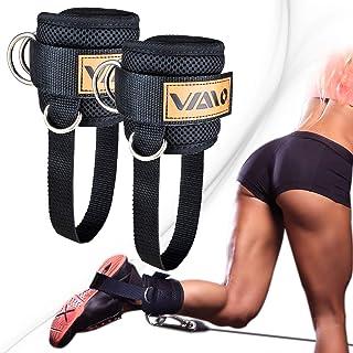 تسمه های مچ پا VAIIO برای ماشین های کابلی ، راحتی قابل تنظیم با نئوپرن ، تقویت دو حلقه D - انگشتان مچ پا ممتاز برای بهبود عضلات شکم ، بالا آوردن باسن ، تن دادن به پاها برای مردان