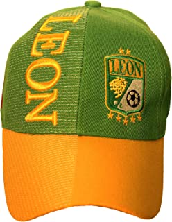 Leon Mexico Country Flag Soccer Logo Green - Yellow Embossed HAT Cap New