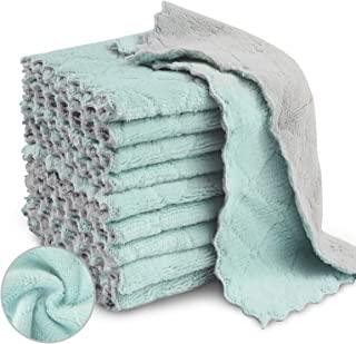 حوله های ظرفشویی پارچه ای آشپزخانه KKWX 20 بسته , لباس های ظرف فوق العاده جاذب میکروفایبر برای خشک کردن