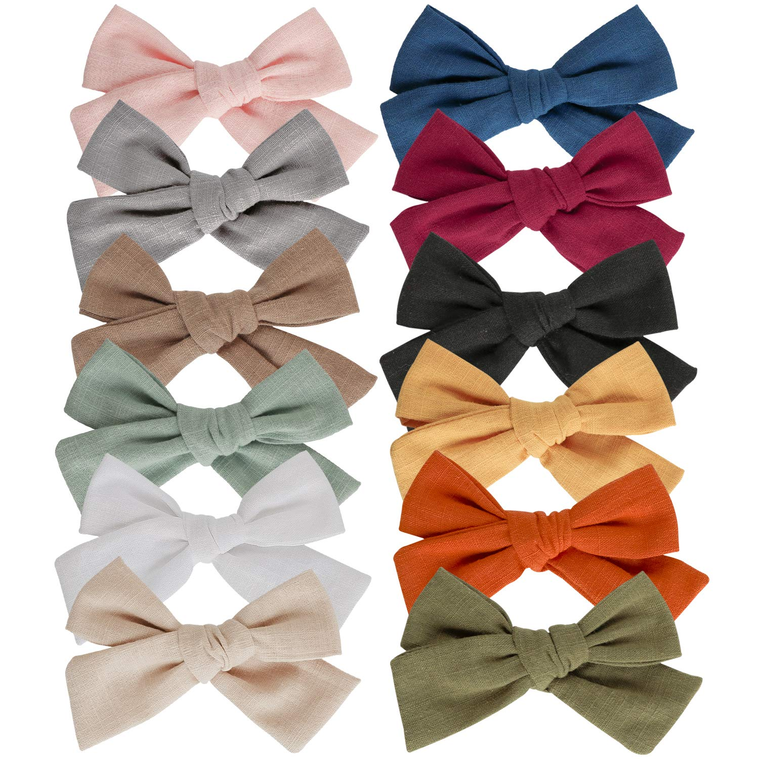 Baby Girl Max 68% OFF Hair Clips Bows Alligator Barrettes Fully Quality inspection Lined Clip