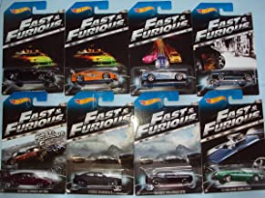 2014 Hot Wheels #2 Fast & Furious Complete Set of 8 - '70 Dodge Charger, Toyota Supra, Nissan Skyline GT-R, '67 Mustang, '72 Ford Gran Torino, '08 Dodge Challenger, '11 Dodge Charger, '69 Daytona