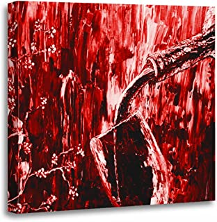 TORASS Canvas Wall Art Print Fine Red Wine Abstract Bottle Pouring Glass Modern Artwork for Home Decor 20