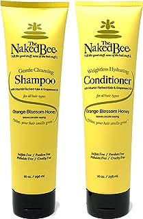 The Naked Bee Orange Blossom Honey Shampoo and Conditioner Set of 2, 10 oz