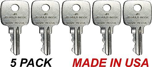 Tornado Heavy Equipment Parts Fits John Deere AR51481 Backhoe Dozer Ignition Keys Made in USA5 Pack