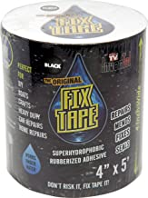 The Original Fix Tape | As Seen On TV - Rubberized Waterproof Tape, Boat Repair (Black, 4 inches x 5 feet)