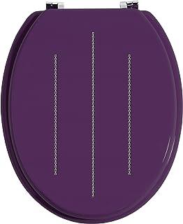 Premier Housewares 1604098 Toilet Seat Purple Toilet Seats Soft Close Zinc Toilet Seat Fittings Alloy Toilet Seats - Purpl...
