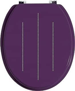 Premier Housewares Diamante Toilet Seat - Purple By Premier Housewares