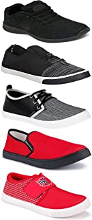 WORLD WEAR FOOTWEAR Sports Running Shoes/Casual/Sneakers/Loafers Shoes for MenMulticolors (Combo-(5)-1219-1221-1140-753-1015)