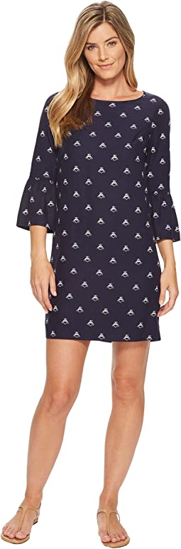 Joules Gardenia Frill Sleeve Woven Dress