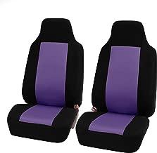 FH Group FB102PURPLE102-AVC FB102PURPLE102 Classic Cloth Pair Set Seat Covers Purple/Black-Fit Most Car, Truck, SUV, or Van