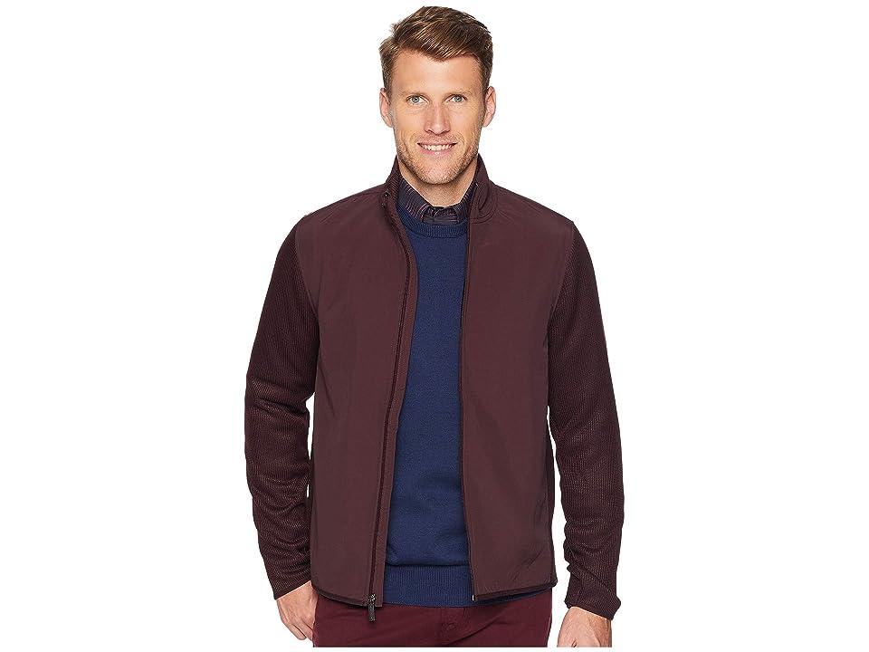 Perry Ellis The Essential Full Zip Stretch Fleece Jacket (Port) Men