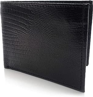 AG Wallets Genuine Leather Snake Skin Embossed Bifold Mens Wallet Slim Design